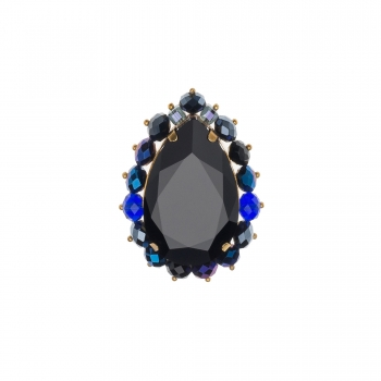 Brosa cu cristale Swarovski - CHARA BLACK - Joomay