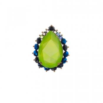 Brosa cu cristale Swarovski -CHARA LIGHT GREEN - Joomay