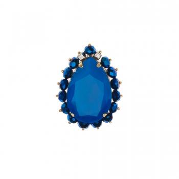 Brosa cu Cristale Swarovski -CHARA NEON BLUE - Joomay