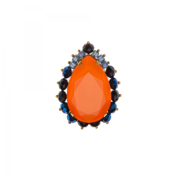 Brosa cu cristale Swarovksi - CHARA ORANGE - Joomay