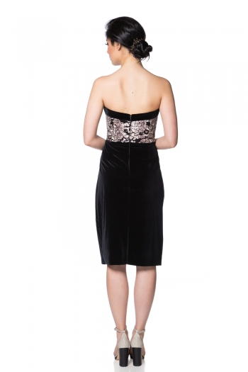 Velvet midi dress - Style Up