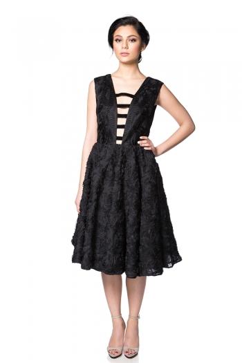 Rochie midi neagra - Style Up